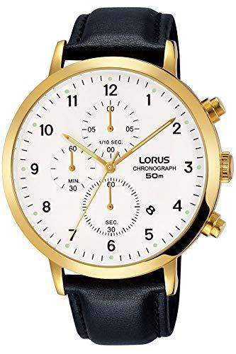 Lorus Herren Chronograph Quarz Uhr mit Leder Armband RM314EX9