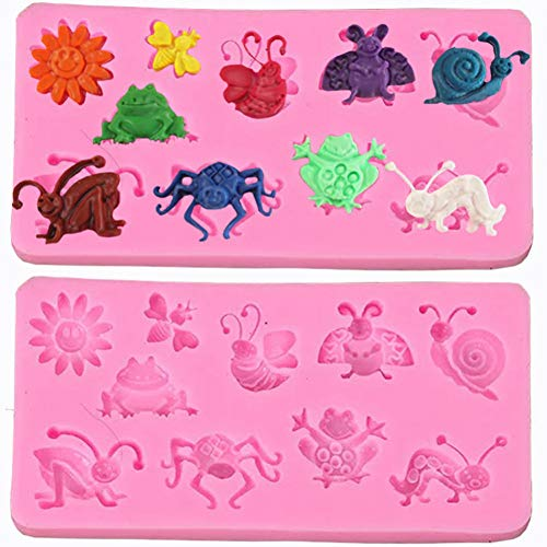 FOOJO Creative Molds Cartoon Insects Cake Mould Cupcake Chocolate Cookie Pastry Craft Baking Tool Kitchen Accessories Tableware