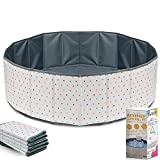 Ball Pit for Toddlers - Foldable & Portable Large Fabric Ball pits for Kids and Babies. Ocean, Colored Circles, Pink Designs. Waterproof & Durable Indoor Outdoor use Ball Pit playpen (Polka Dots)
