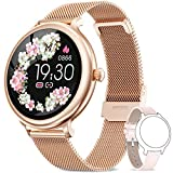 NAIXUES Smartwatch Donna IP68, Orologio Fitness Impermeabile Cardiofrequenzimetro da Polso, Smart Watch Bluetooth Contapassi Calorie Sonno Notifiche Messaggi Activity Tracker per Android iOS O