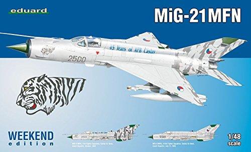 Unbekannt Eduard Plastic Kits 84128 - Modellbausatz MiG-21 MFN Weekend