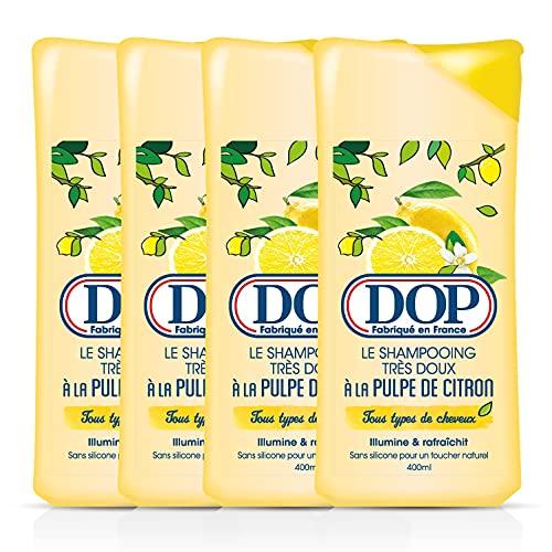 Dop DOP Shampooing Très Doux à la Pulpe de Citron 400.0 ml - Lot de 4
