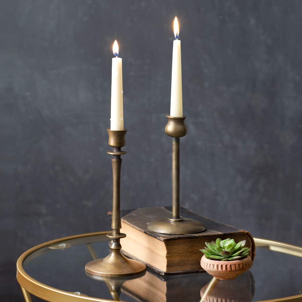 SOLID BRASS CHAMBERSTICKS Finger Ring Candle Holders Set of 2 Brass Candlesticks Antique Candleholder Rustic Brass Chamberstick