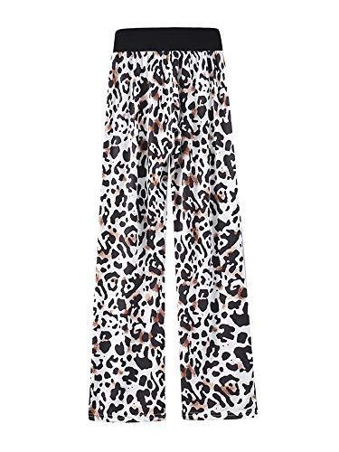 Kelinfei Women Drawstring Palazzo Wide Leg Lounge Pants Pajama Pants Sleepwear Yoga Pants (Black, M)