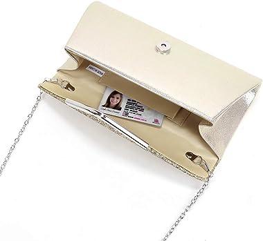 Mädchen Polly Spakling Glitzer Flap Clutch Geldbörse für Frauen Pailletten Umschlag Abendtasche Hochzeit Party Abschlussball
