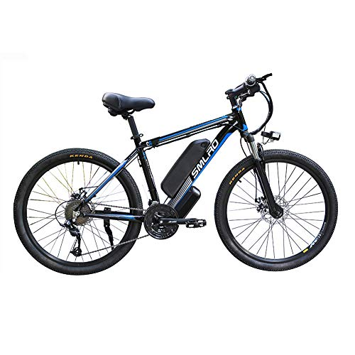 Hyuhome Electric Bicycles for Adults, Ip54 Waterproof 500W 1000W Aluminum Alloy Ebike Bicycle Removable 48V/13Ah Lithium-Ion Battery Mountain Bike/Commute Ebike,black blue,1000W