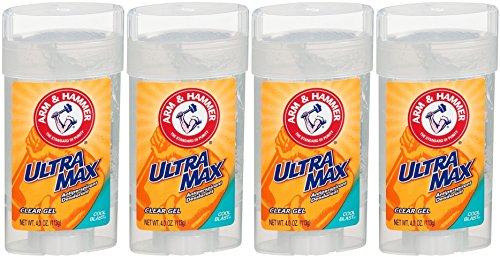 Arm & Hammer UltraMax Antiperspirant Deodorant Clear Gel, Cool Blast, 4 Ounce (Pack of 4)