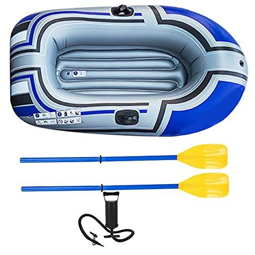 Nicejoy Barca Hinchable, Barca Hinchable, PVC 1 Persona portátil Pesca Plegable de la Pesca de la Pesca de la Cadena de la Deriva del Kayak con los pedros del inflador