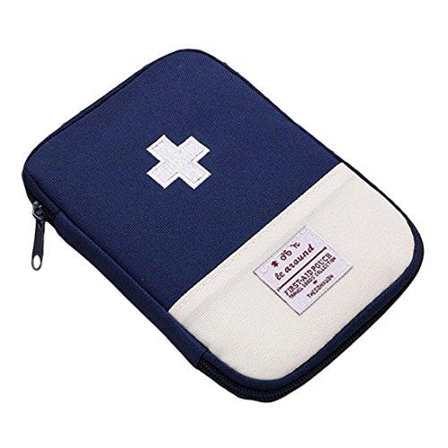 uu19ee Tragbarer Mini Erste Hilfe Tasche Home Notfall Kit Medizin Aufbewahrungstasche für Outdoor Aktivitäten Reise Camping Wandern, blau