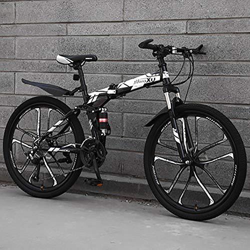 HAOYF Mountain Bike Plegable De 26 Pulgadas, Bicicletas De