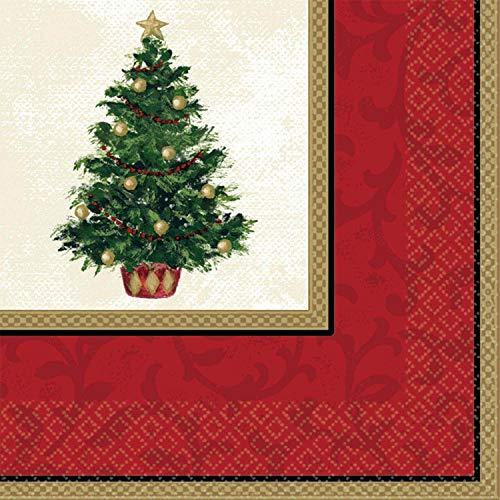 Amscan 519900 Suministros para fiestas, rojo/verde, 16,5 x 16,5 cm