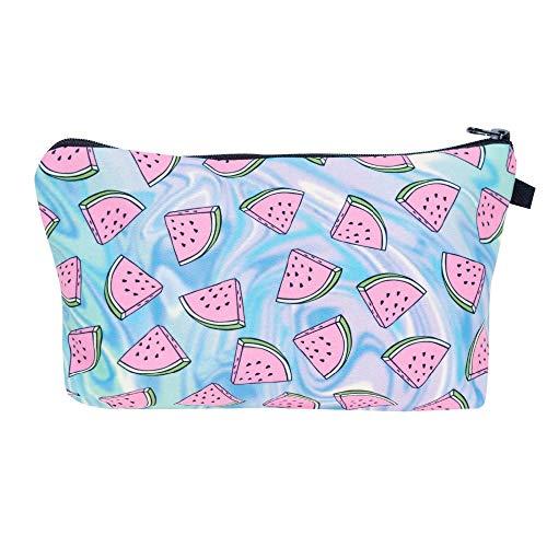Lovely Fabric Cosmetic Bag for Women 3D Printing Fruit Makeup Bag Female Organiser Handbag b 22*13.5*18cm
