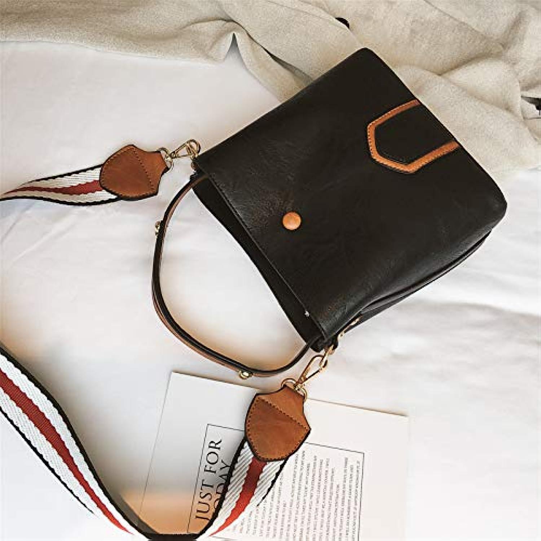 WANGZHAO Women's Handbag, Satchel, Shoulder Bag, Koblock Bucket Bag 20X20X10Cm