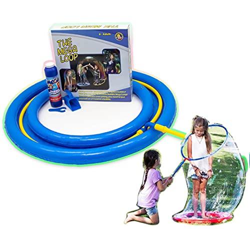 Uncle Bubble Bacchetta gigante per Bolle di Sapone - include Liquido Concentrato - enormi Bolle di Sapone per attività Estive, Festa di Compleanno