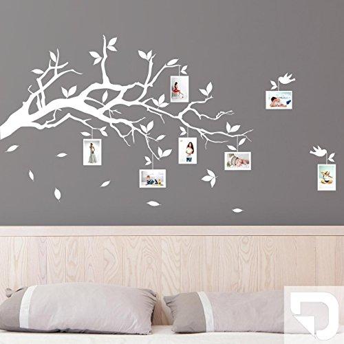 DESIGNSCAPE® Wandtattoo Ast mit Fotorahmen 90 x 54 cm (Breite x Höhe) weiss DW804006-S-F5