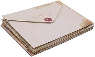 12 pcs 96 * 72mm Vintage Small Mini Kraft Paper Window Envelopes Wedding Invitation Envelope Gift Envelope Card Message Pa...