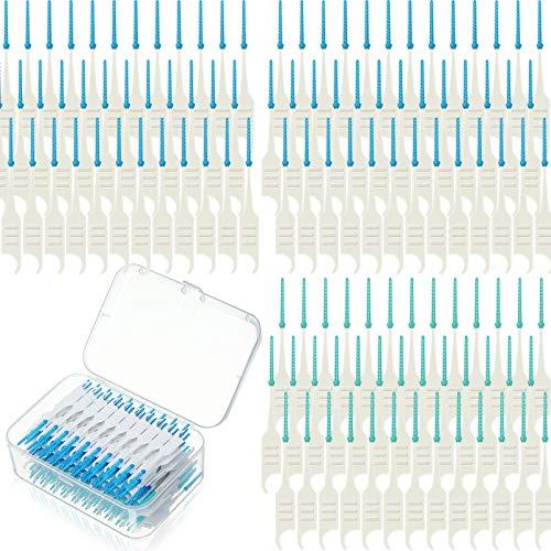 200 Stücke Doppelt-Verwendungszweck Interdentalbürsten Weichem Silikon Zahnstocher zwischen Zähnen, Zahnseiden Bürste zur Reinigung Kieferorthopädische Draht Zahnbürsten Werkzeug (200)