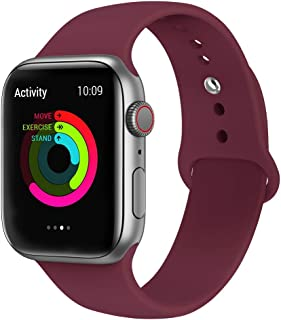 EWORLD Sport Band for Apple Watch 40mm 38mm, Soft Silicone Strap Replacement iWatch Bands for Apple Watch Sport,Series 4, ...