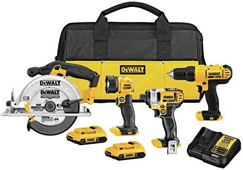 DEWALT 20V MAX Cordless Drill Combo Kit, 4-Tool (DCK466D2)