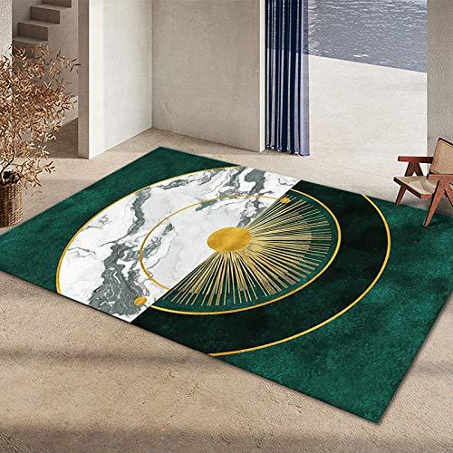 Alfombras Antideslizantes alfombras Fácil Limpio Verde Amarillo Amarillo diseño geométrico Alfombra Antideslizante Alfombra Comedor Alfombra despacho 200X300CM