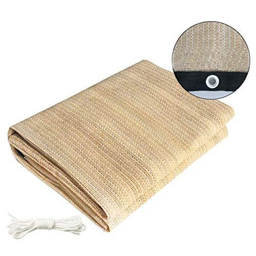 Toile d'ombrage, Sunblock Shade Cloth 50% -70% UV Block - Filet maillé résistant aux Rayons UV avec Oeillets for Couverture végétale, Serre, Patio, pelouse ou Chantier (Beige) (Size : 2m x 1.8m)