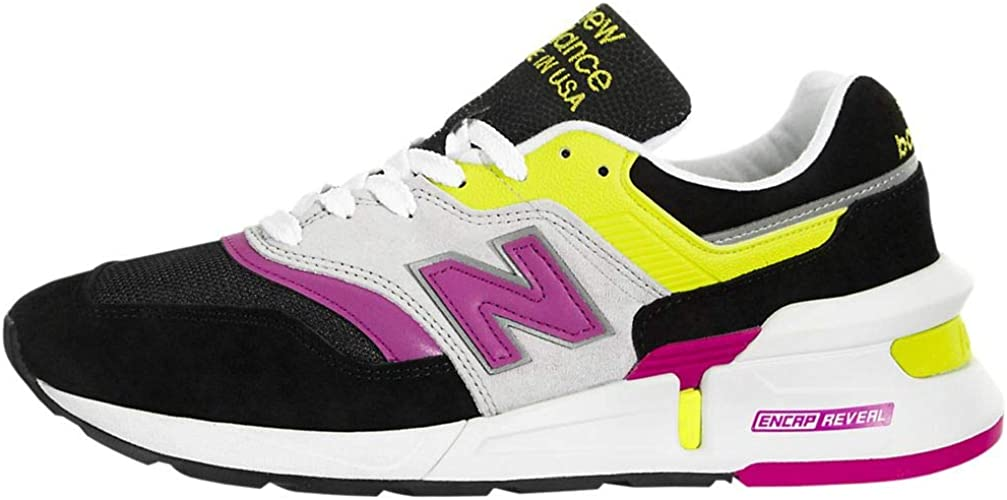New Balance 997 Made in USA Sportstyle Jaune Fluo et Rose avec des ...