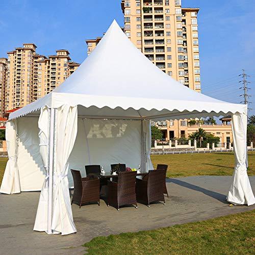 ZYFWBDZ 3 x 3m Carpa de jardín Gazebo Carpa para Fiestas Canopy de Boda Marco de Metal Resistente para Exteriores - Blanco
