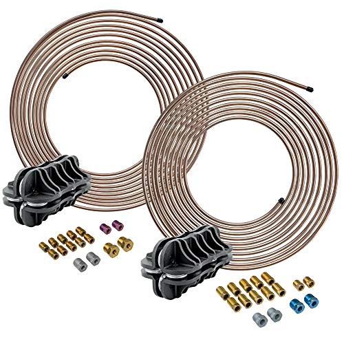 4LIFETIMELINES 3/16' & 1/4' x 25' True Copper-Nickel Alloy Non-Magnetic Brake Line Replacement Kits & Handheld Tubing Straighteners