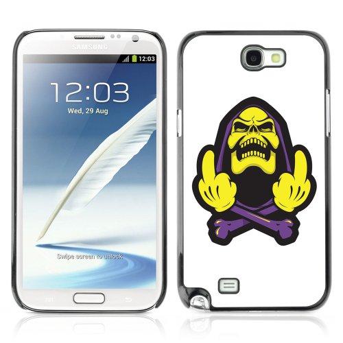 YOYOSHOP [Funny Skeletor Illustration] Custodia Case Cover per Samsung Galaxy Note 2