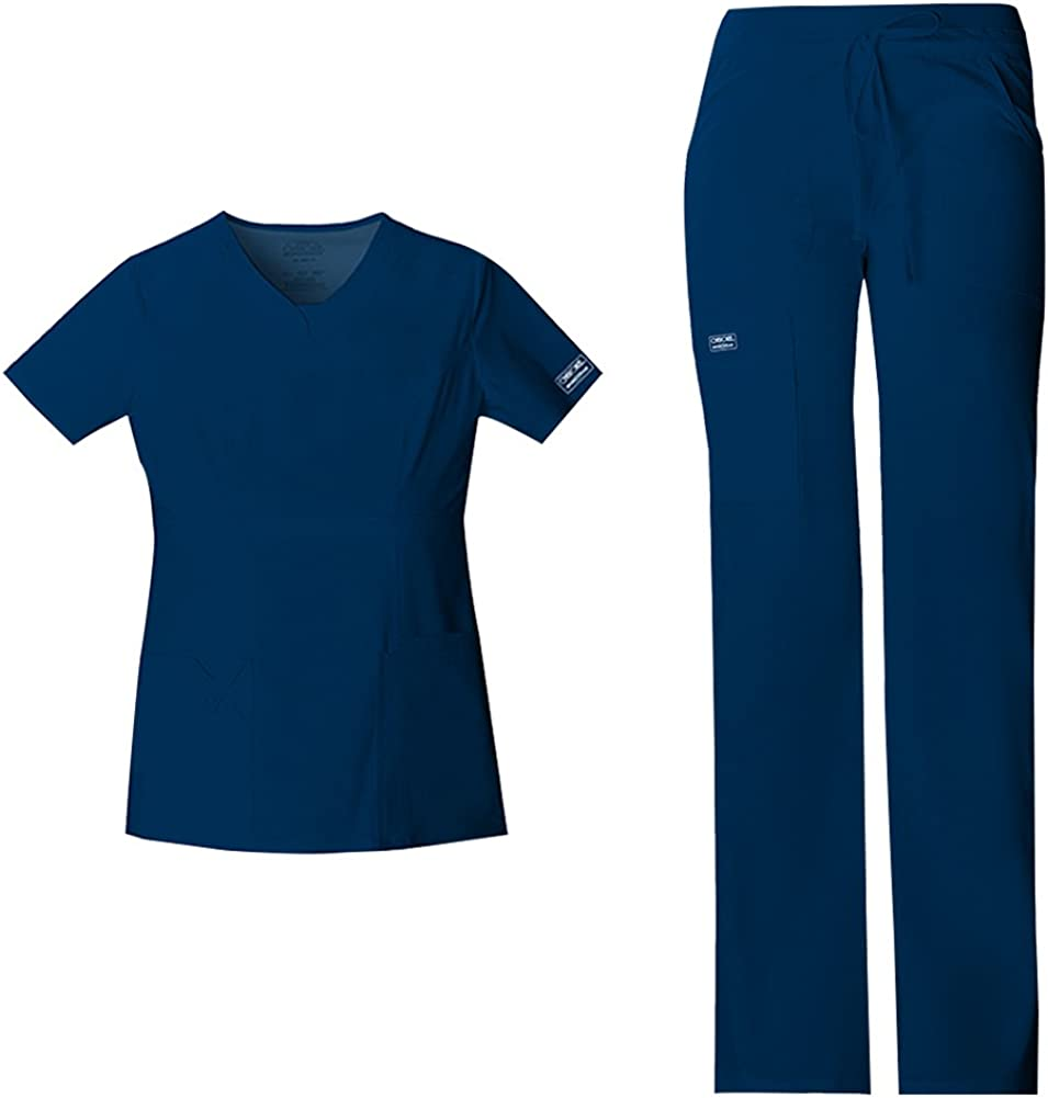 Workwear Core Stretch Women Scrubs Super intense SALE Set Drawst Top V-Neck Very popular 24703