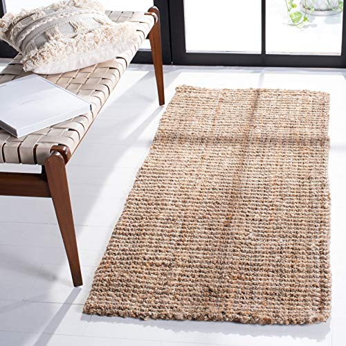 Safavieh Natural Fiber Collection NF447A Handmade Chunky Textured Premium Jute 0.75-inch Thick Accent Rug, 2' x 3', Natural