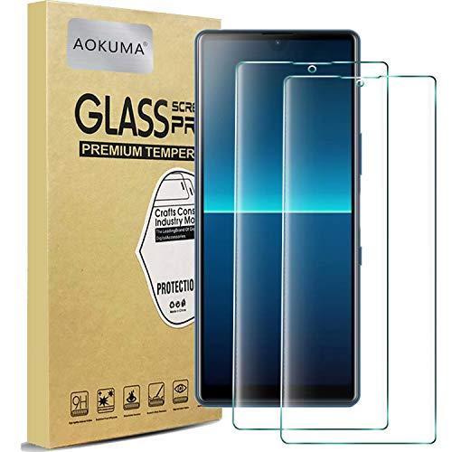 AOKUMA für Sony Xperia L4 Panzerglas, 【2 Stücke】Glas kompatibel mit Sony Xperia L4 Schutzfolie, Premium Glasfolie mit 9H Festigkeit, Anti Kratzer, Splitterfest,Anti-Öl,Anti-Bläschen