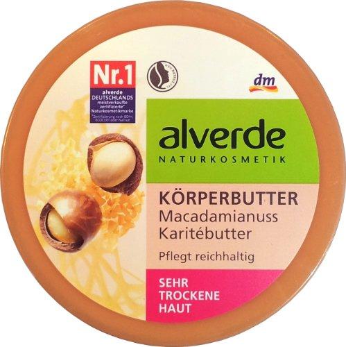 Alverde Körperbutter Macadamianuss Karitébutter 200 ml