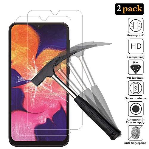 TopgadgetsUK {2Pack} Samsung Galaxy A10 3D Volledige lijm Vingerafdruk Erkenning Gehard Glas Screen Protector, Premium Ultra Dunne Lichtgewicht Kwaliteit Explosiebestendige Hardheid Glas voor Galaxy A10