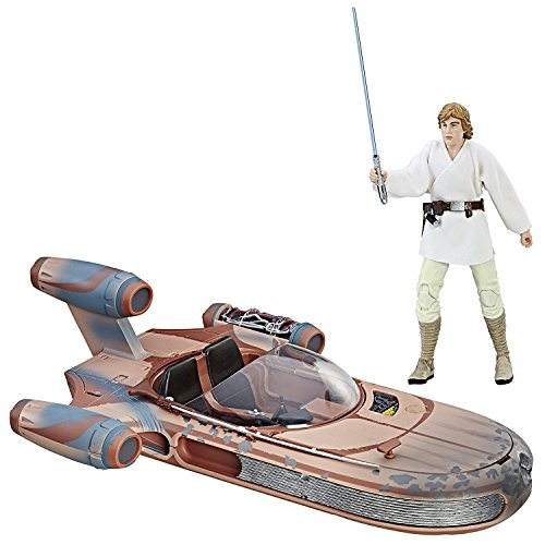 6-inch-scale Luke Skywalker's Landspeeder vehicle from Star Wars The Black Series Collector grade quality figure and vehicle with authentic, movie-accurate detail Premium packaging and design Inspired by Star Wars: A New Hope Includes: figure, vehicl...