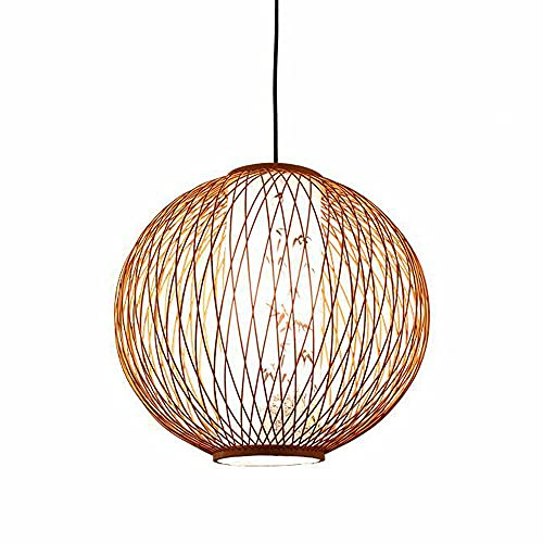SHUANF Lámpara colgante de bambú para isla de cocina, Lámpara colgante de los accesorios de iluminación del comedor, Lámpara de nido de pájaro de araña de ratán creativa para sala de estar de bar cafe