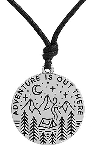 Lemegeton Adventure Wild Survival Star Moon Pendant Mountain Necklace Gifts Jewelry for Mens
