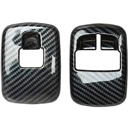 Camisin 2 PZ Auto In Fibra di Carbonio Finestra Interruttore Pulsante Copertura Trim Sticker per Smart 453 Fortwo Forfour 2015+Accessori
