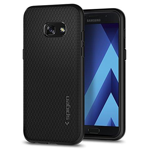 Spigen Funda Liquid Air Compatible con Samsung Galaxy A3 2017, Flexión Duradero y Diseño de Fácil Agarre - Negro Mate