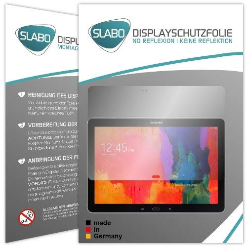 Slabo 2 x Protector de Pantalla para Samsung Galaxy Note Pro P900 | P905 lámina Protectora de Pantalla No Reflexion | No Reflexiones Mate