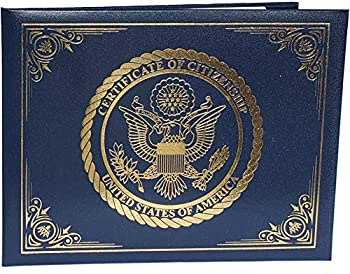 U.S Citizenship and Naturalization Certificate Holder Gold American Eagle logo  Certificate of Citizenship  Padded with cover.