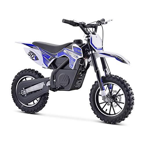 MotoTec 24v 500w Gazella Electric Dirt Bike Blue