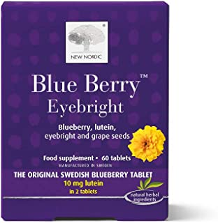 New Nordic Manufacturing Blue Berry Eyebright Natural Supplement (60 Tablets)