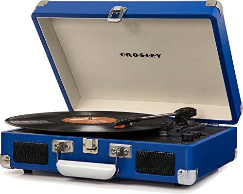 Crosley Cruiser Deluxe Platine Vinyle Tourne Disque à Trois Vitesses avec Haut-Parleur Intégré -...