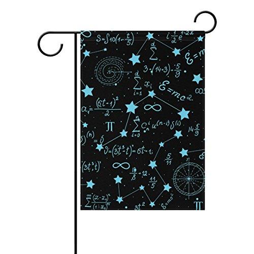 Jstel Home Mathématique Figurines et les Calculs étoiles Scient Tissu Polyester drapeaux de jardin Lovely et résistant aux moisissures personnalisés imperméables de 30,5 x 45,7 cm