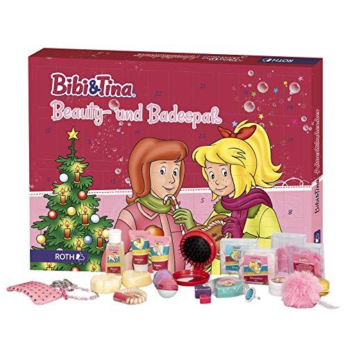 ROTH Bibi und Tina-Adventskalender 2020 gefüllt mit Beauty- und Bade-Artikeln, Bibi & Tina-Kalender für die Vorweihnachtszeit für Mädchen und Pferdefreundinnen