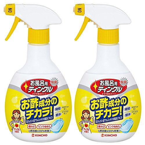 【まとめ買い】 お風呂用ティンクル 浴室・浴槽洗剤 すすぎ節水タイプ 本体スプレー 400ml×2個