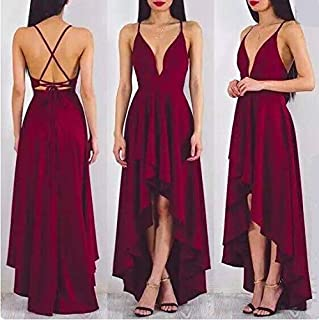 A2397 Sexy V Collar Women Sleeveless And Backless Beach Casual Evening Party Long Dress,