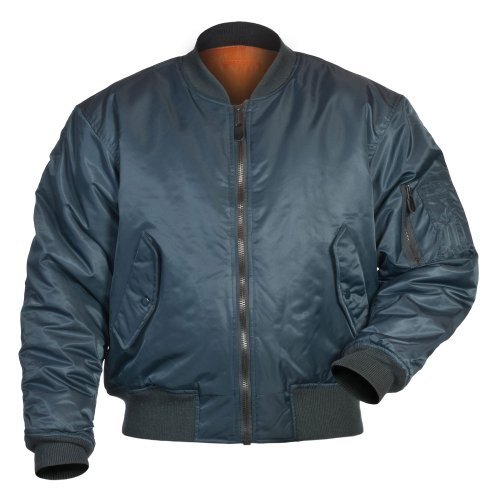 Mil-Tec US MA1 Veste d'aviateur, Teesar (Bleu foncé/L)