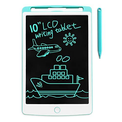 Richgv Tableta de Escritura LCD, Pizarra Infantil 10 Pulgadas, Pizarra Magnética para Niños, Juguetes Electrónicos para Dibujar y Aprender (Azul 10 Pulgadas)